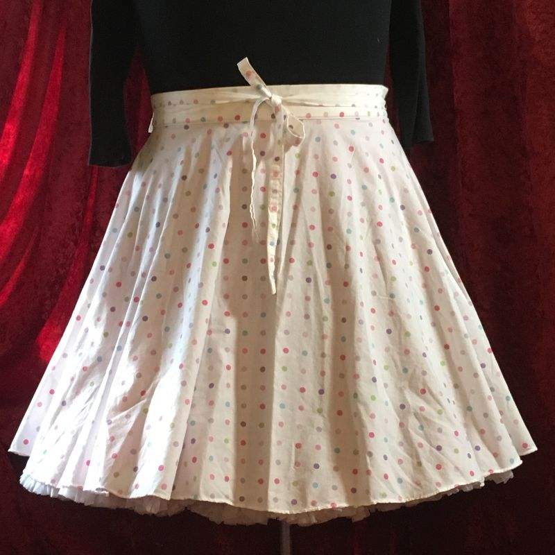Wrap Around, Multi-size, Circle Skirt Pastel Dots Print - product images  of