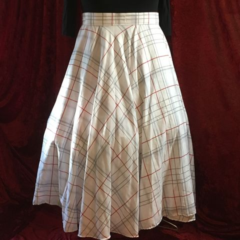 Wrap,Around,,Multi-size,,Circle,Skirt,Scarlet,and,Grey,Plaid/OSU,Print,Wrap Around, Multi-size, Circle Skirt Scarlet and Grey Plaid/OSU Print