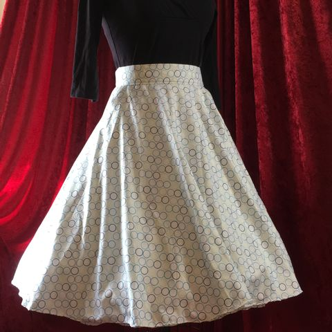 Wrap,Around,,Multi-size,,Circle,Skirt,,Blue,Dots,Print,Wrap Around, Multi-size, Circle Skirt, Blue Dots Print