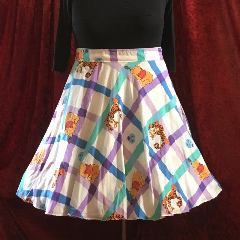 Wrap Around, Multi-size, Circle Skirt, Winnie The Pooh Print - product images  of
