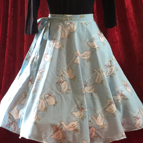 Wrap,Around,,Multi-size,,Circle,Skirt,,Ducks,Print,Wrap Around, Multi-size, Circle Skirt, Ducks Print