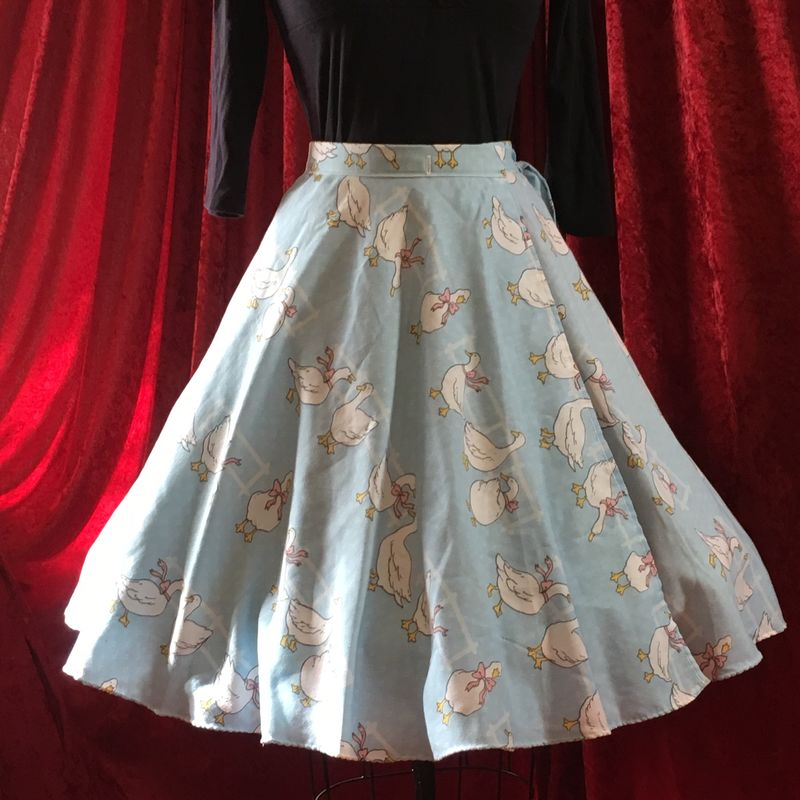 Wrap Around, Multi-size, Circle Skirt, Ducks Print - product images  of