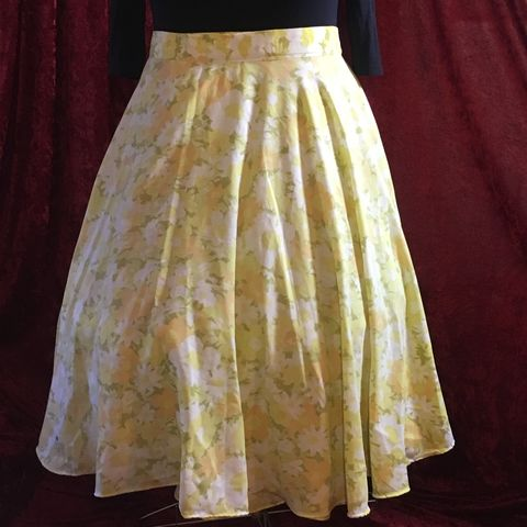 Wrap,Around,,Multi-size,,Circle,Skirt,,Yellow,and,Orange,Floral,Print,Wrap Around, Multi-size, Circle Skirt, Yellow and Orange Floral Print