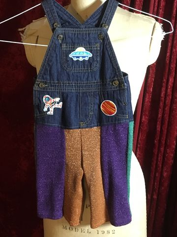 Galaxy,Planet,Space,Toddler,Baby,Overalls,Denim,and,Metallic,Sweater,Fabric,Galaxy Planet Space Toddler Baby Overalls Denim and Metallic Sweater Fabric