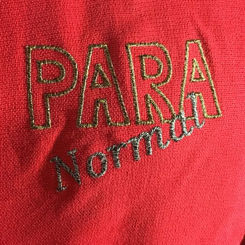 Gold,and,Pewter,Para,Normal,Embroidered,on,Red,Button-front,Shirt,Gold and Pewter Para Normal Embroidered on Red Button-front Shirt