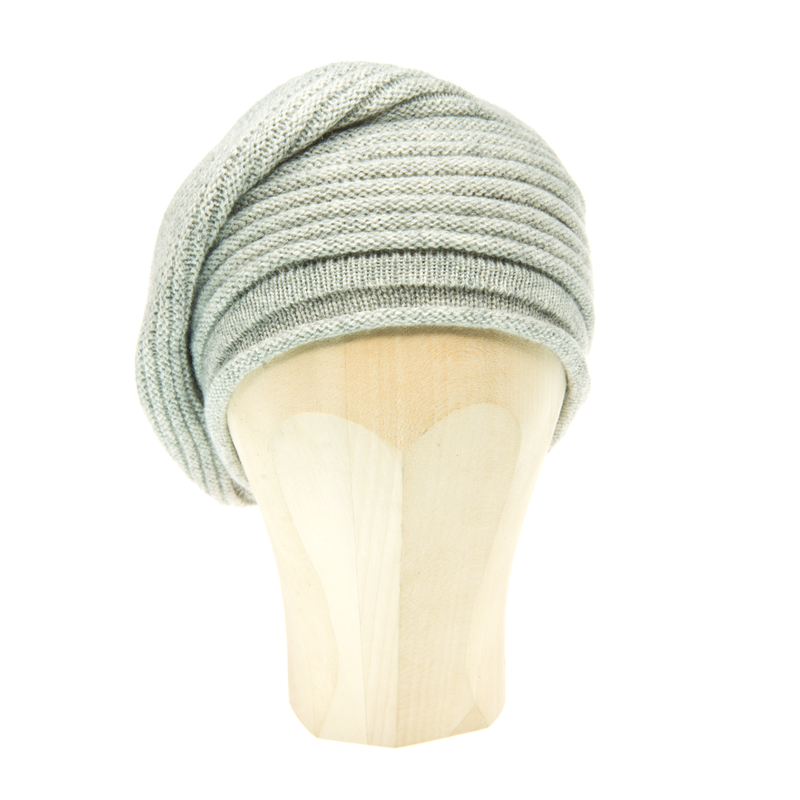 Horizontal Knit Beanie - SILVER - product images  of