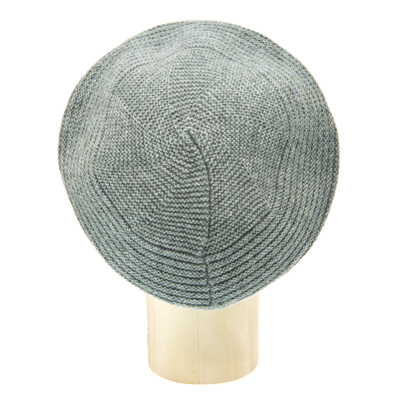 Horizontal Knit Beanie - STEEL GREY - product images  of