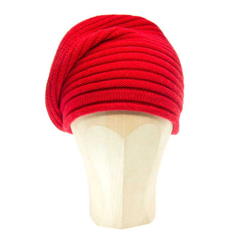 Horizontal Knit Beanie - PAPAVERO - product images  of