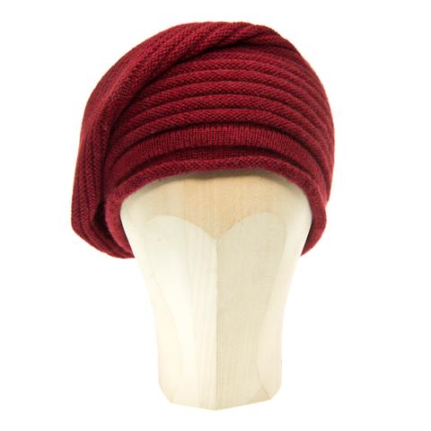 587811aed830f6 Horizontal,Knit,Beanie,-,BORDEAUX,Horizontal Knit Beanie Cashmere Kaschmir  Bordeaux
