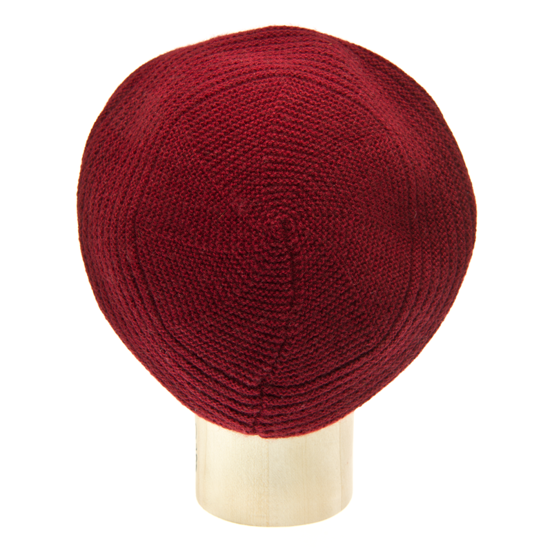 Horizontal Knit Beanie - BORDEAUX - product images  of