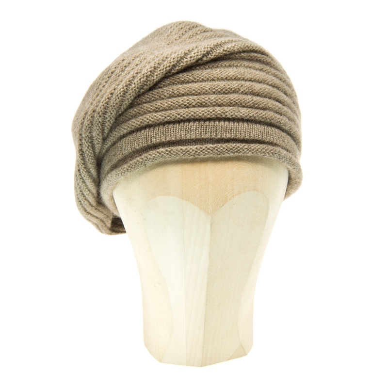 Horizontal Knit Beanie - BROWN (Middle) - product images  of