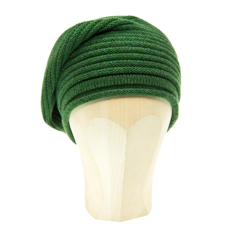 Horizontal Knit Beanie - IRLANDA - Kelly Green - product images  of