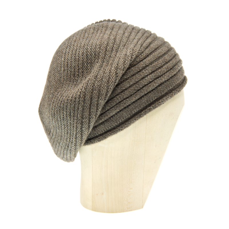 Horizontal Knit Beanie - HEATHERED LEGNO - product images  of