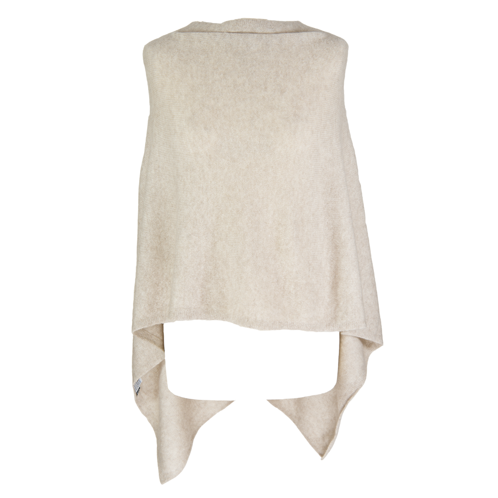 Poncho - Dress Topper - OATMEAL- BEIGE - product images  of