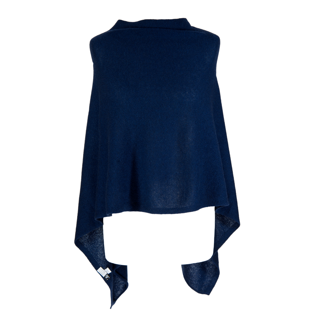 Poncho - Dress Topper - MIDNIGHT NAVY BLUE - product images  of