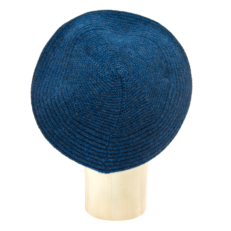 Horizontal Knit Beanie - HEATHERED BLUE - product images  of