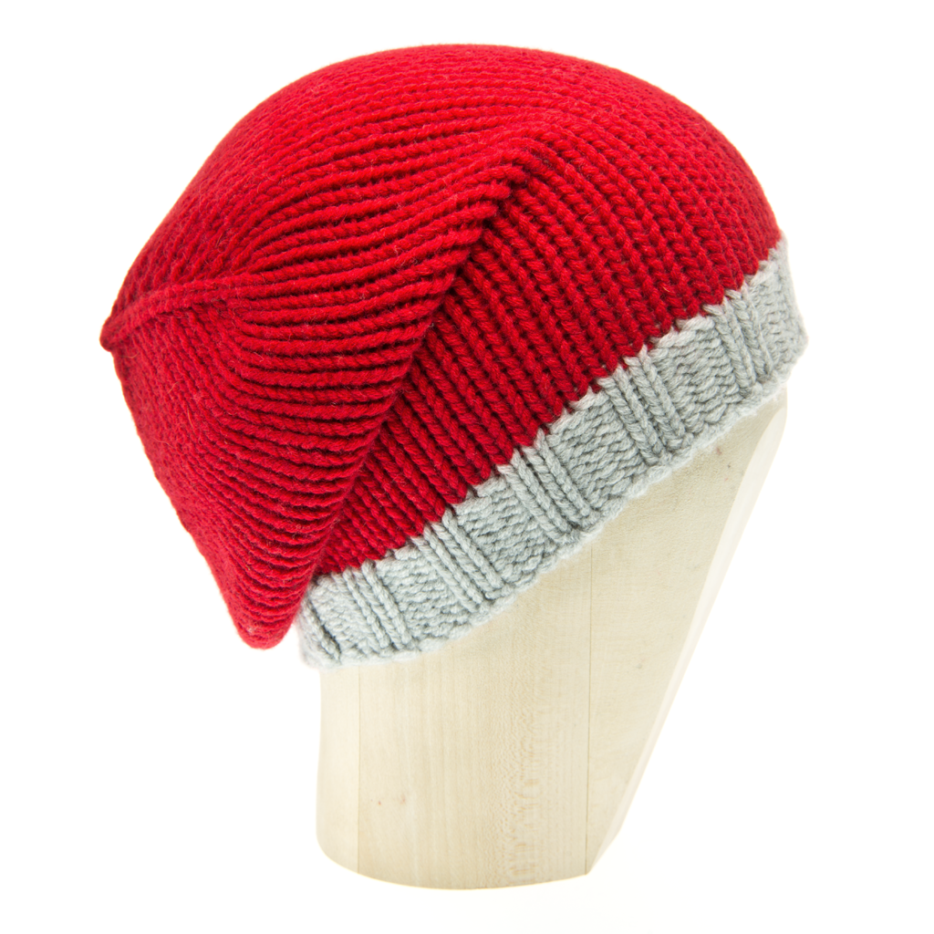 Beanie Two-Tone - PAPAVERO/HEATHERED GREY C. - product images  of