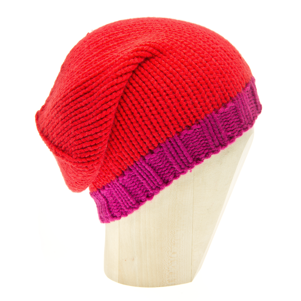 Beanie Two-Tone - PAPAVERO/FUXIA - product images  of