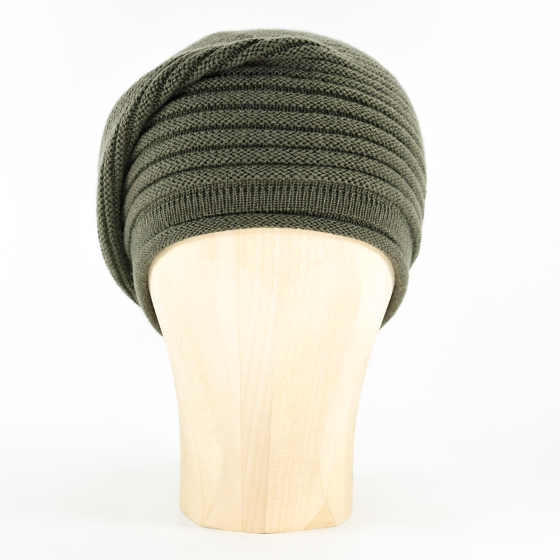 Horizontal Knit Beanie - KHAKI - product images