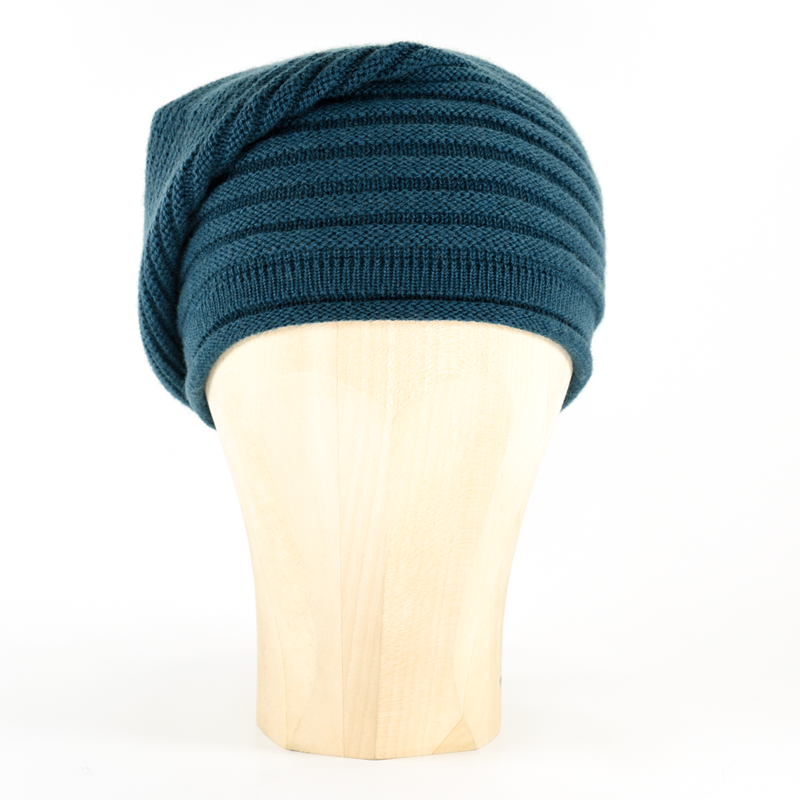 Horizontal Knit Beanie - PETROL - product images