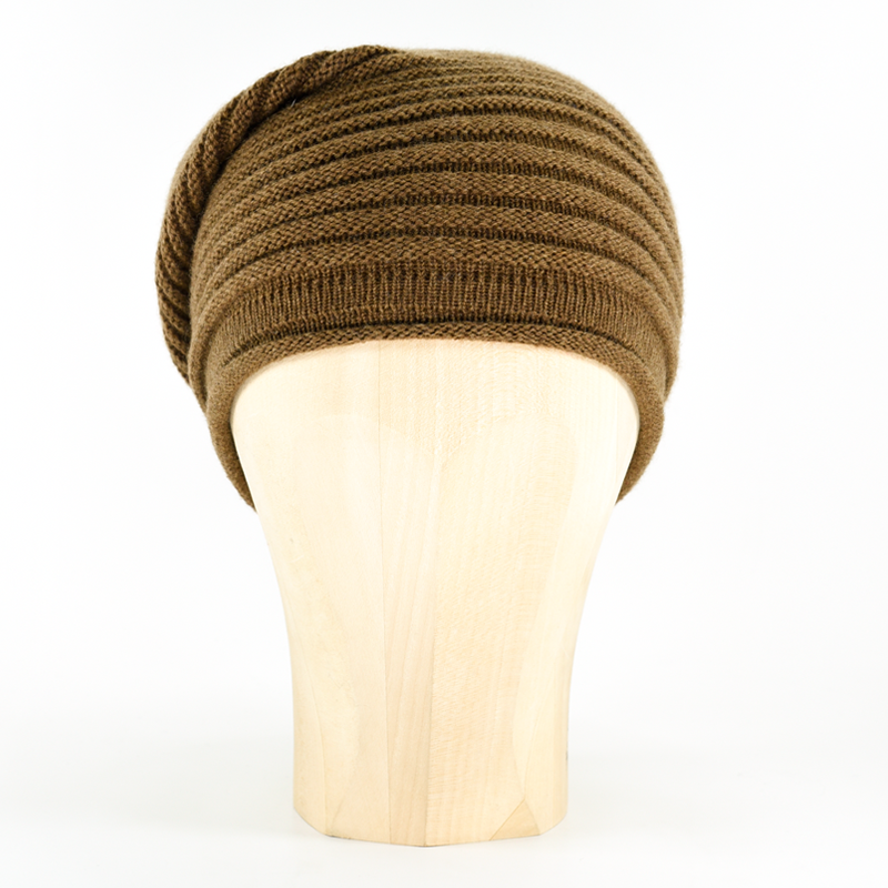 Horizontal Knit Beanie - COGNAC - product images