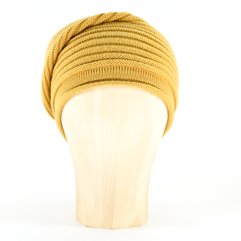 Horizontal Knit Beanie - SAFFRON - product images