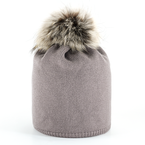 Star,Beanie,with,Fur,Pompon,-,Mauve
