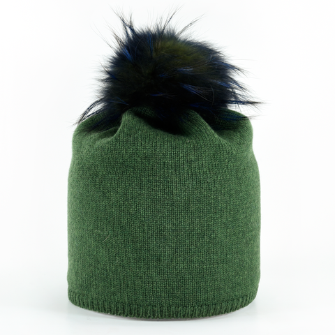 Star,Beanie,with,Fur,Pompon,-,Kelly,Green