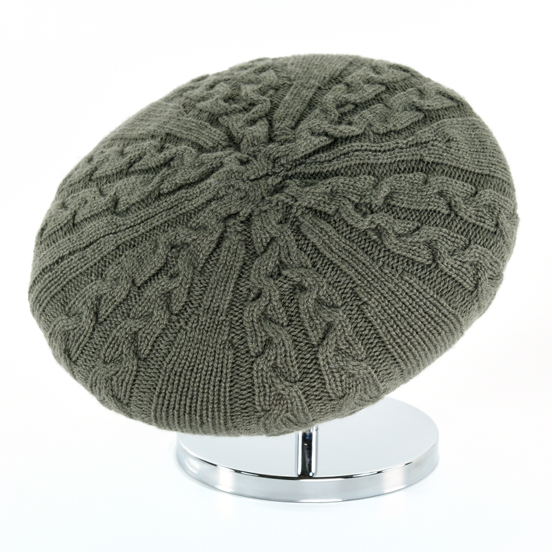Cable Beret - Khaki - product images