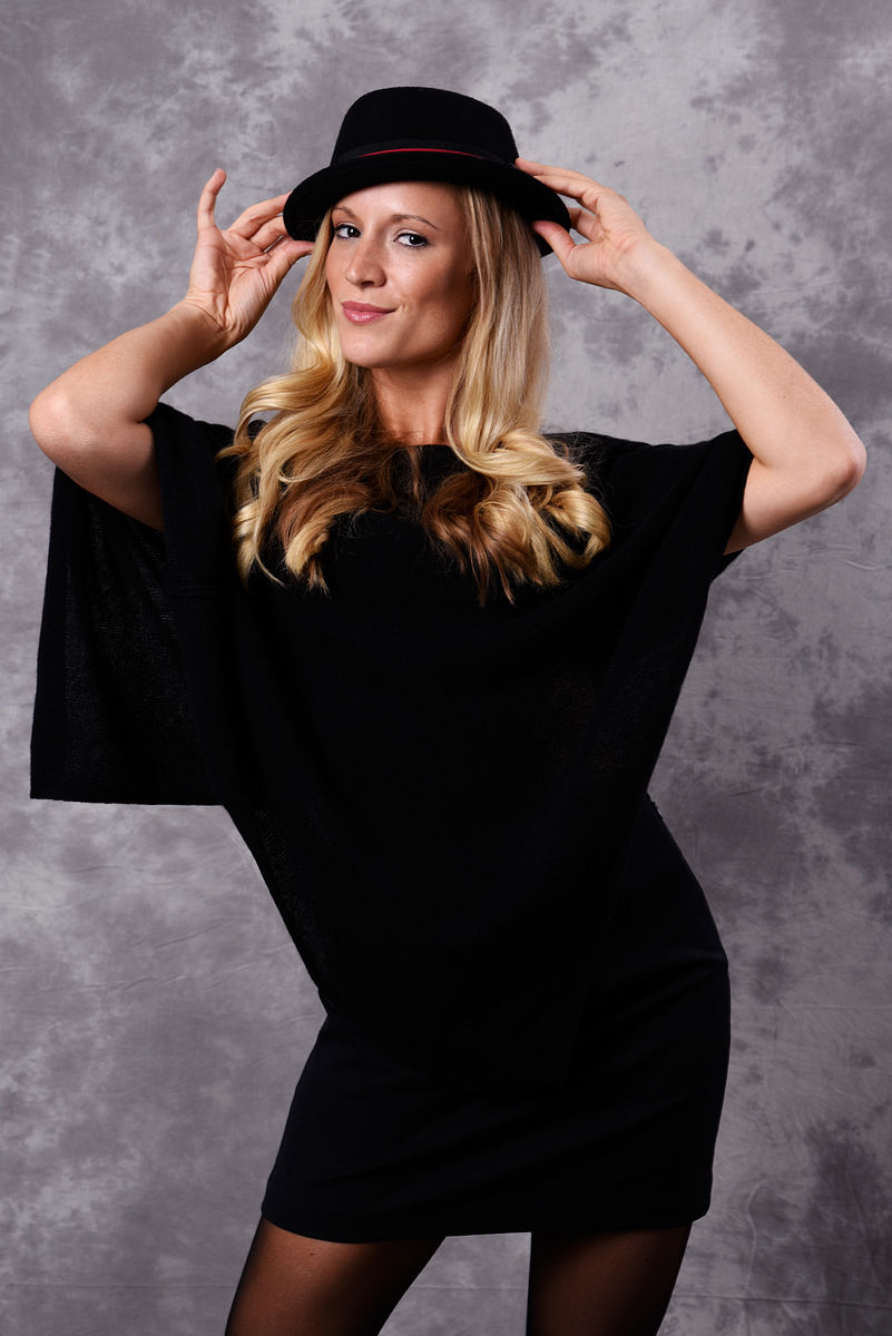 Poncho - Dress Topper - BLACK - product images  of