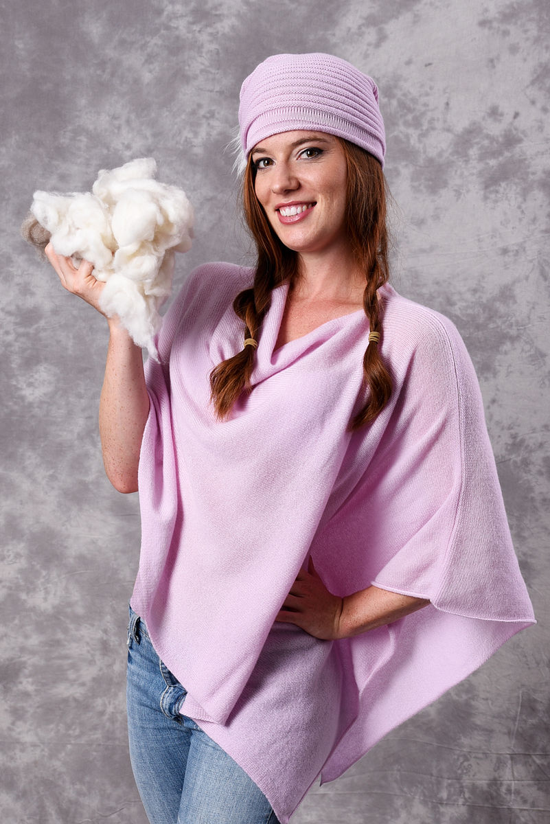 Poncho - Dress Topper - BABY PINK - product images  of