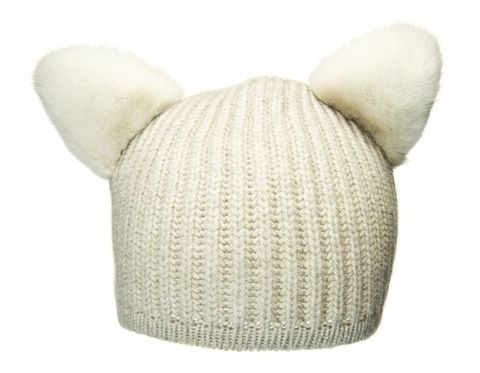 Children's,Beanie,-,Katze,Beige,children, beanie, katze, kitty, ears