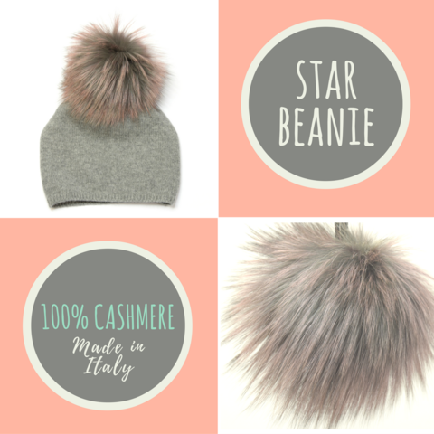 Star,Beanie,with,Fur,Pompon,-,Silver,Limited,Edition