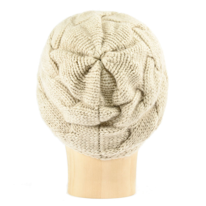 Chunky Braid Beanie - Beige - product images  of