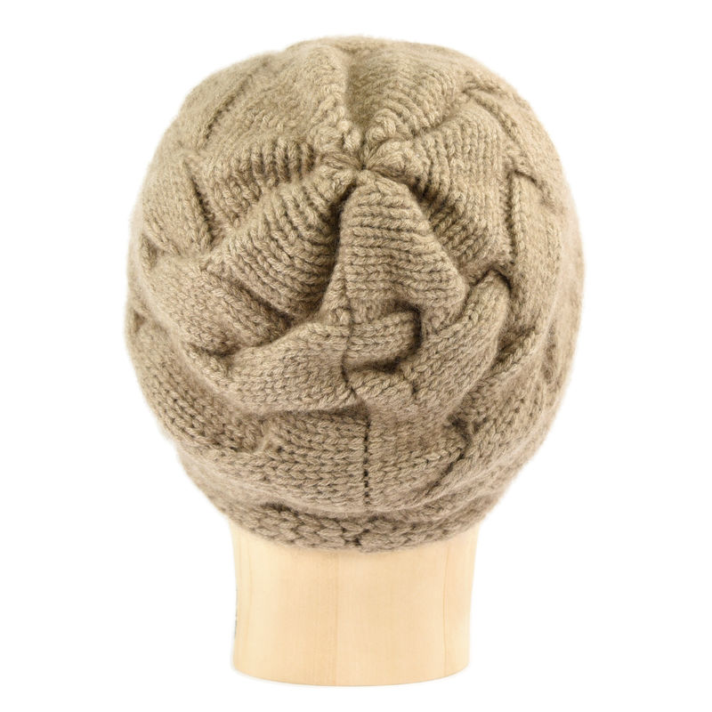 Chunky Braid Beanie - Brown - product images  of