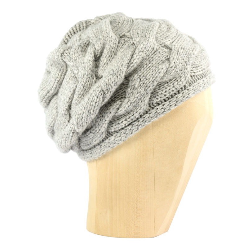 Chunky Braid Beanie - Silver - product images  of