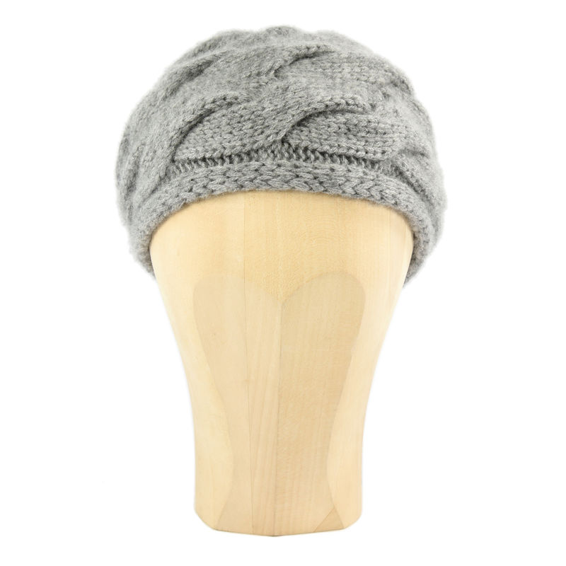 Chunky Braid Beanie - Grey - product images  of
