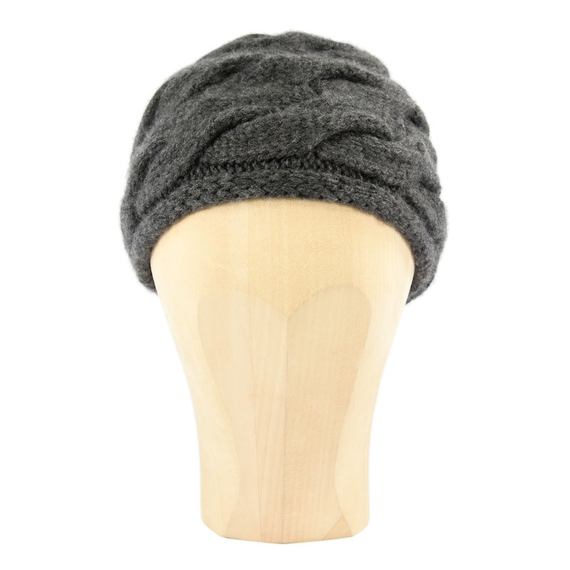 Chunky Braid Beanie - Charcoal - product images  of