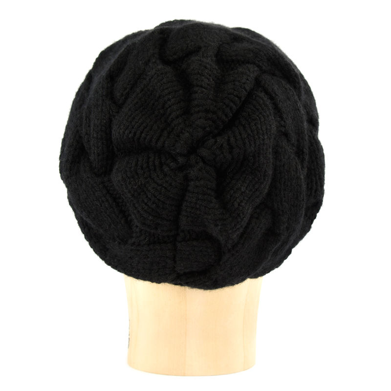 Chunky Braid Beanie - Black - product images  of
