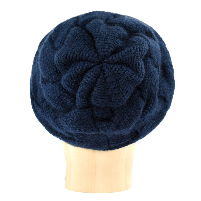 Chunky Braid Beanie - Midnight Blue - product images  of