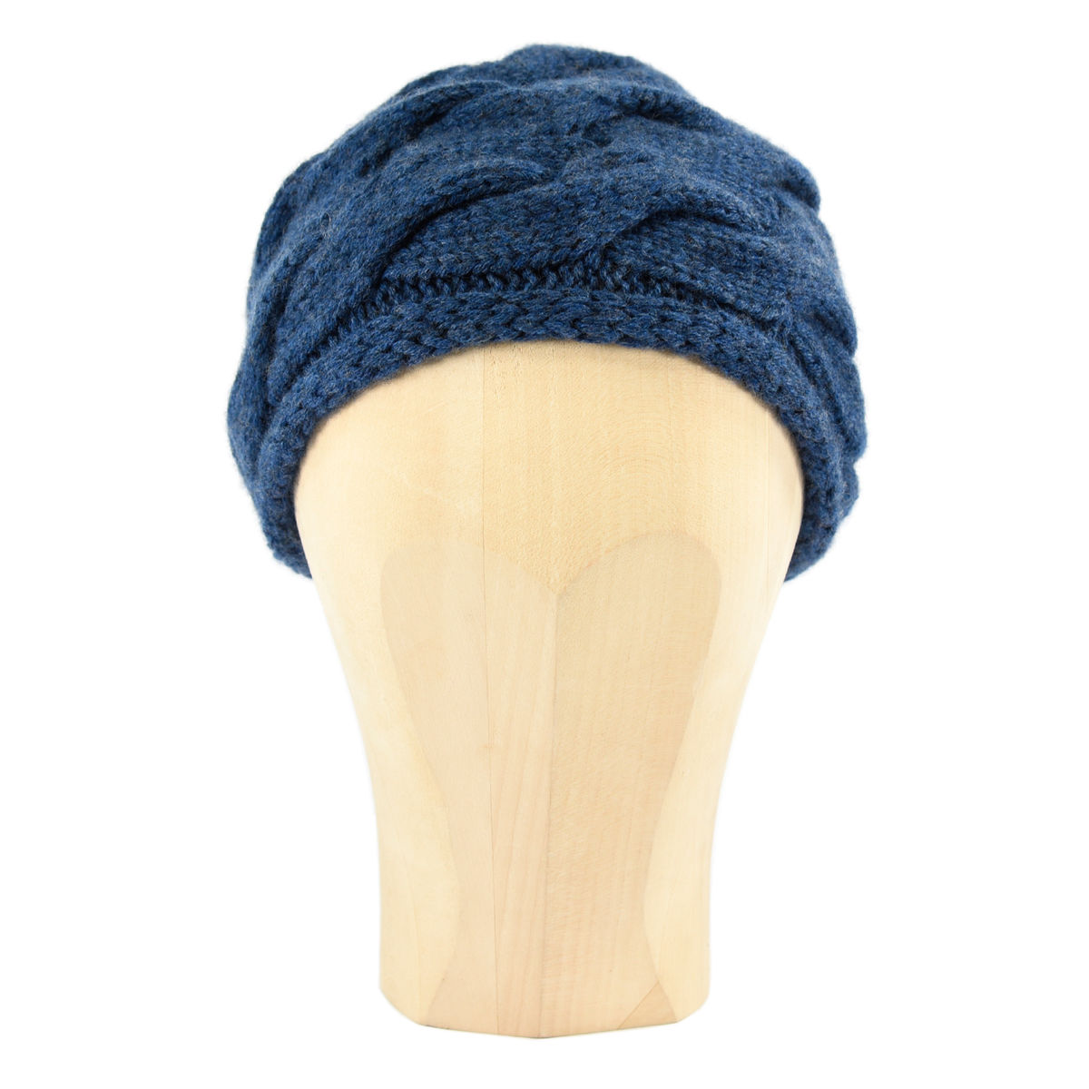 Chunky Braid Beanie - Heathered Blue - product images  of