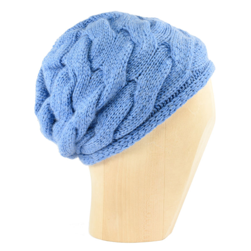 Chunky Braid Beanie - Periwinkle Blue - product images  of