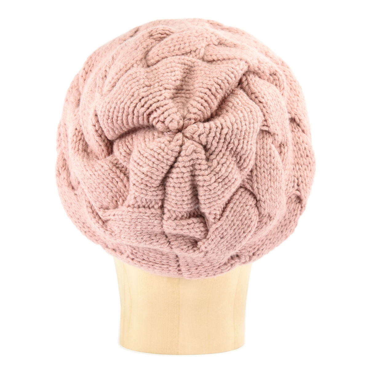 Chunky Braid Beanie - Dusty Rose - product images  of