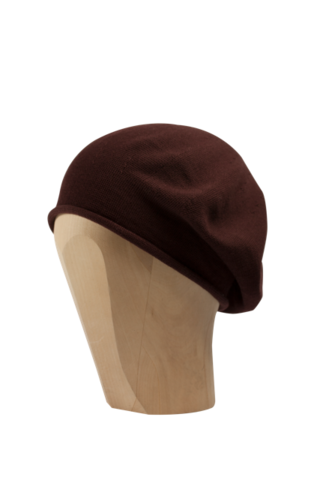 Kopka,Cotton,Roll-Up,Beret,-,Cabernet,Cotton Beanie Kopka Jennigraf Kopka Cotton Beret Cabernet Beret Basque Chemo Hat Indoor Summer