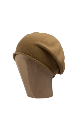Kopka,Cotton,Roll-Up,Beret,-,Caramel,Cotton Baumwolle Beanie Kopka Jennigraf Kopka Cotton Beret Caramel Beret Basque Chemo Hat Indoor Summer