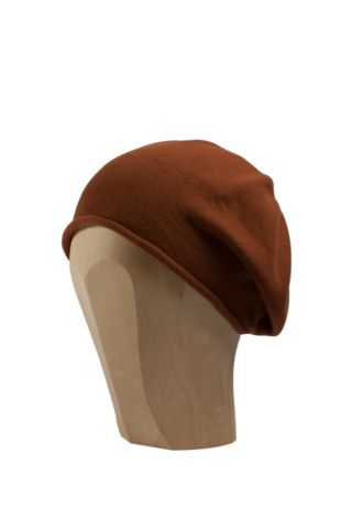 Kopka,Cotton,Roll-Up,Beret,-,Copper,Cotton Baumwolle Beanie Kopka Jennigraf Kopka Cotton Beret Copper Beret Basque Chemo Hat Indoor Summer