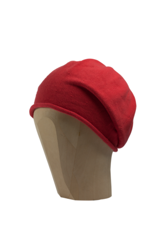 Kopka,Cotton,Roll-Up,Beret,-,Coral,Cotton Baumwolle Beanie Kopka Jennigraf Kopka Cotton Beret Coral Beret Basque Chemo Hat Indoor Summer