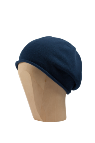 Kopka,Cotton,Roll-Up,Beret,-,Delft,Blue,Cotton Beanie Kopka Jennigraf Kopka Cotton Beret Cabernet Beret Basque Chemo Hat Indoor Summer
