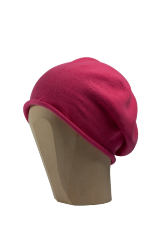 Kopka,Cotton,Roll-Up,Beret,-,Pink,Cotton Beanie Kopka Jennigraf Kopka Cotton Beret Pink Beret Basque Chemo Hat Indoor Summer