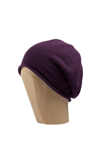 Kopka,Cotton,Roll-Up,Beret,-,Amethyst,Cotton Beanie Kopka Jennigraf Kopka Cotton Beret Amethyst Beret Basque Chemo Hat Indoor Summer